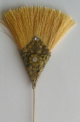 VINTAGE / ANTIQUE STYLE LTD EDITION BUTTERSCOTCH ART DECO 1920's INSPIRED HATPIN