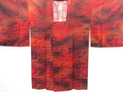 Vintage Japanese Antique Kimono /  Michiyuk Coat / Craft Material / Unused