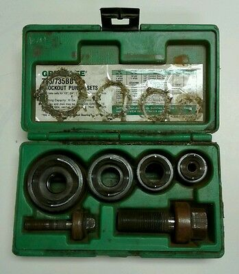 ***Greenlee 735/735BB KnockOut Punch Sets***