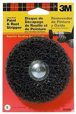"""New 3M  4"""" X 1-1/4 Large Area Paint & Rust Stripper,1/4"""" Shank,9099NA- Free Ship"""