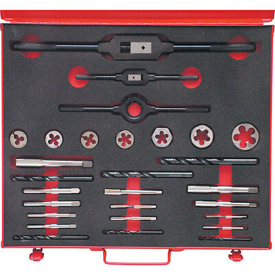 """Sherwood 3/16-3/4"""" Bsf 28-Pce Hssthreading Set In Case"""