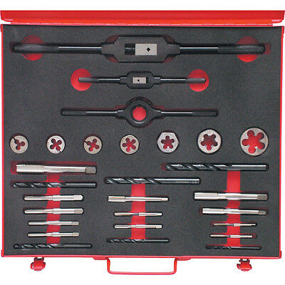"""Sherwood No.10-3/4"""" Unf 28-Pce Hssthreading Set In Case"""