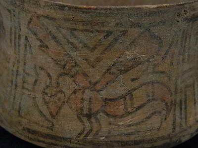 RARE Ancient Teracotta Painted Pot With Bees Indus Valley 2500 BC  #SG6412