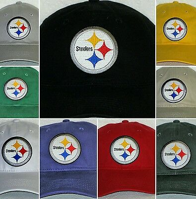 Pittsburgh Steelers Polo Style Cap 🏈Hat 🏈CLASSIC NFL PATCH/LOGO🏈9 Colors🏈NEW