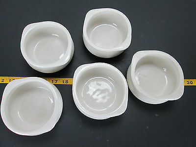 Vintage Set of 5 Soup Dishes 10 Oz French Onion Oven Serving Handles Hot Dip T