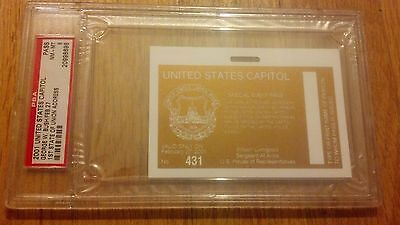 2001 President George W. Bush Address to Congress Security Pass Ticket PSA 8