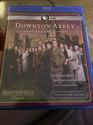 "Downton Abbey: Season 2 (Blu-ray, 3-Disc) ""Flawless; Not Sealed""   BUY 2, SAVE 2"