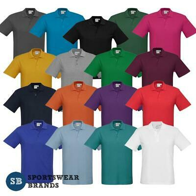 Mens Crew Polo Shirt Top Size S M L XL 2XL 3XL 5XL Casual Poly Cotton New P400MS