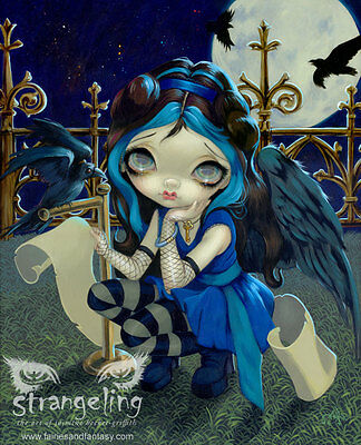 """""""Quoth the Raven Nevermore"""" by Jasmine Becket-Griffith Fine Art Print 5"""" x 7"""""""