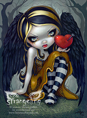 """""""Heart of Nails"""" by Jasmine Becket-Griffith Fine Art Print 5"""" x 7"""""""