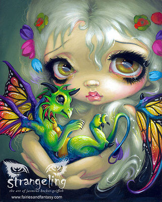 """Darling Dragonling Green"" by Jasmine Becket-Griffith Fine Art Print 5"" x 7"""
