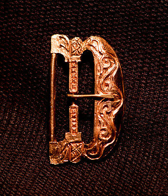 Ornate Double bar buckle - 14th - 15th C - X-02