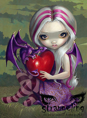 """Valentine Dragon"" by Jasmine Becket-Griffith Fine Art Print 8"" x 10"""