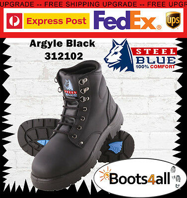 Steel Blue Work Boots Argyle 312102 Black Steel Toe Lace Up