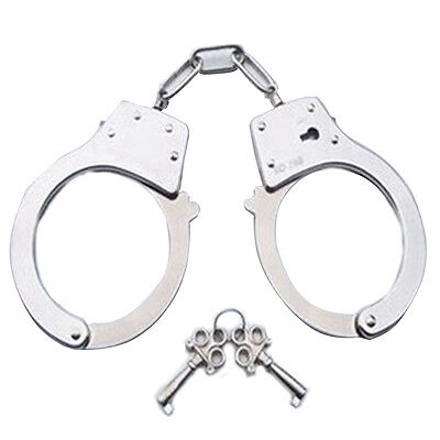 Metal Handcuffs Fancy Dress Hen Do Stag Do Kids Toys Role Play Policeman New