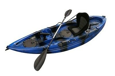 SYDNEY Find Stealth 2.7 Fishing Kayak Blue Camo Single 5 Rod Holders Deluxe Seat