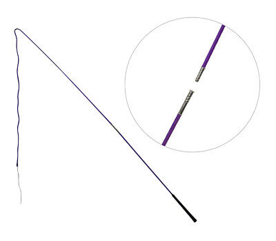 Showmaster Lunge Whip 200cm 2 piece Training lunging driving PURPLE Free Postage