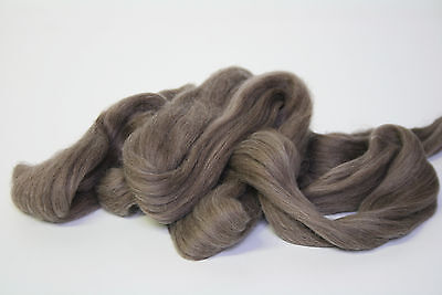 950g Fine Coloured Merino Wool 19.5mic top roving spinning felting Natural Brown