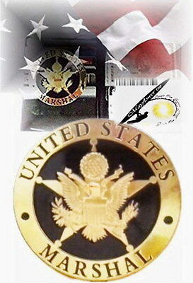 Special Gold U.S Marshal Badge *Metal(Thick)Rare