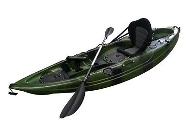MELBOURNE Find Stealth 2.7 Fishing Kayak Green Camo Single 5 Rod Holders Deluxe