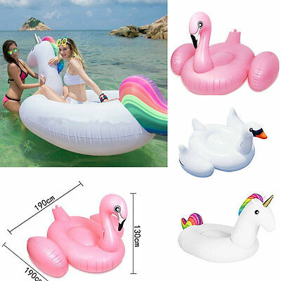 Inflatable Unicorn Swan Flamingo Ride-on Pool  Floats Rafts Outdoor Water Toys