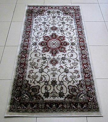New Cream Persian Design Heatset Floor Hallway Runner Rug 80X150Cm