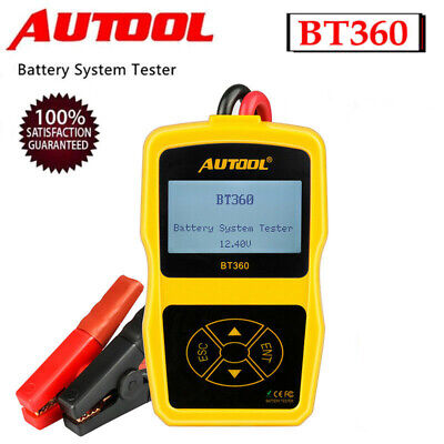 AUTOOL BT-360 12V Battery Tester AGM GEL Lead Acid Cranking Diagnostic Tool AU