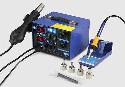 2-in-1 YIHUA 862D+ SMD Soldering Iron Hot Air Rework Heat Gun Solder Station