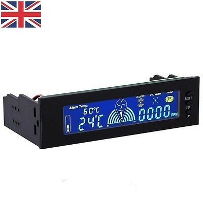 "UK 5.25""Bay LCD Panel Computer LED Cooling Fan Speed CPU Temperature Controller"