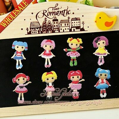 100pcs Lalaloopsy Doll Refrigerator Magnetic Sticker Fridge Magnets Party Gift