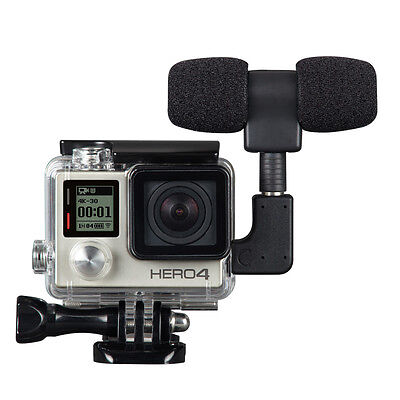 3.5mm Plug Mini Stereo Microphone withStandard Framefor gopro 3/3+/4