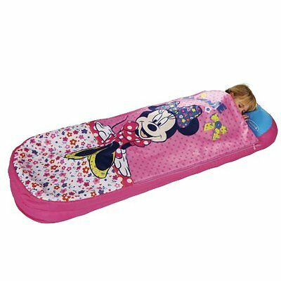 2 in 1 Disney Minnie Mouse Airbed & Sleeping Bag In One, Portable Kids Child Bed
