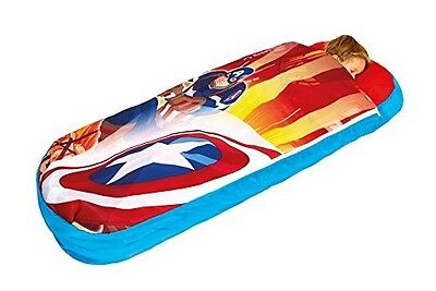 2 in 1 Captain America Airbed & Sleeping Bag, Portable Kids Child Toddler Bed