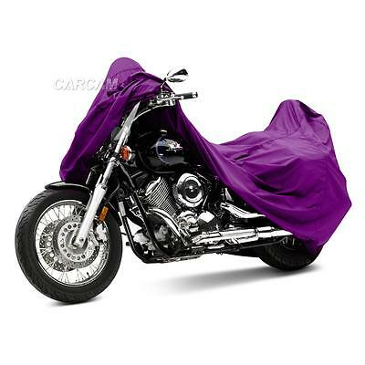 Purple XXL Street Bike Cruiser Motorcycle Cover Outdoor Indoor Dust Protection