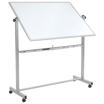"""Double Sided Rolling Magnetic Dry Erase Whiteboard, 48"""" X 36"""""""