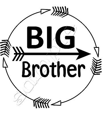 Iron on Transfer I'm the BIG BROTHER BOHO ARROWS ARROW circle 15x15cm