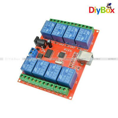 8-way 8-Channel DC 12V Relay control board relays Module For AVR ARM Development