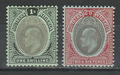 Southern Nigeria 1907 Kevii 1/- And 2/6