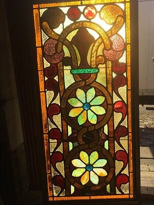Sg 853 Beautiful Intense Stainglass Victorian Window