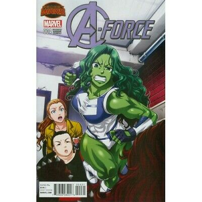 A-Force -4 Cover B Variant Manga Cover (Secret Wars Warzones Tie-In) - Marvel -