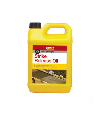 Everbuild 206 Strike Release Oil Shuttering Removed Easily Release Agent - 5L