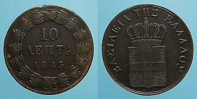Grecia Raro 5 Lepta 1843 Re Otto Bb