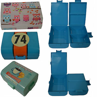 Brotdose Unterteilung Lunchbox Vorratsdose Snackbox Butterbrotdose Eule Kinder