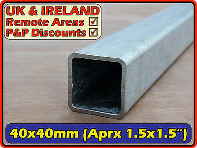 Galvanised Mild Steel Square Tube (box iron section)  |  40x40 mm