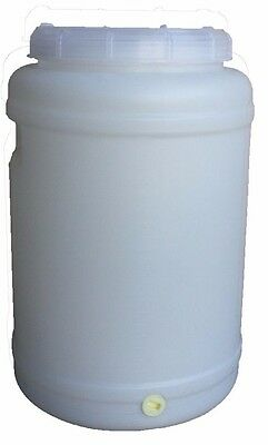 30 lt Litre Water Storage Container Plastic Fermenter Drum Barrel Tank Home Brew
