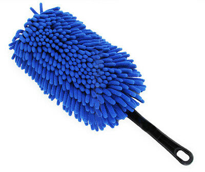 Car Cleaning Supplies Car Wash Brush Dust Removal Bust  - Blue