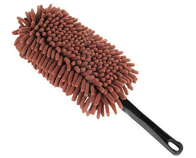 Car Cleaning Supplies Car Wash Brush Dust Removal Bust  - Brown