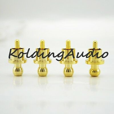 8Pcs RCA Cap protector dust proof Brass Gold Plated Shielding Caps