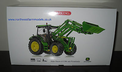 Wiking 1/32 Scale John Deere 6125R With Loader  Model Tractor