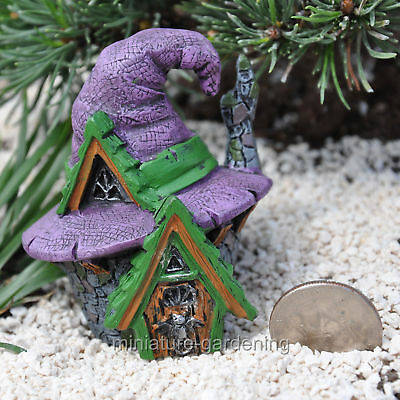 Miniature Fairy Garden Micro Witch Hat House